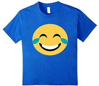 T-Shirt Big Emoticon Laughing Tears Face Smile