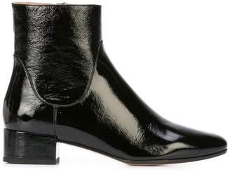 Francesco Russo patent leather boots