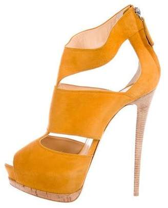 Giuseppe Zanotti Suede Platform Sandals Suede Platform Sandals