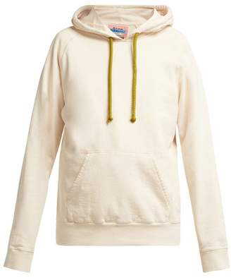 Acne Studios Hooded Cotton Sweatshirt - Womens - Cream