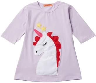Funkyberry Unicorn Tunic (Toddler & Little Girls)