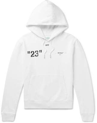 Off-White Off White Logo-Print Loopback Cotton-Jersey Hoodie - Men - White