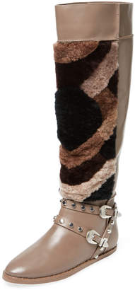 Ivy Kirzhner Women's Husky Leather & Shearling Boot