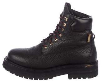 Buscemi Leather Combat Boots