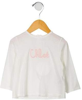 Chloé Girls' Embroidered Long Sleeve Top w/ Tags