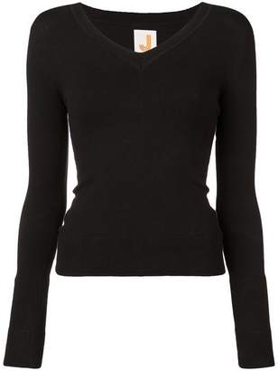 Joostricot Black Wide V-Neck Jumper