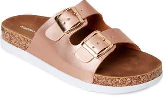 Madden-Girl Rose Gold Goldiie Slide Sandals