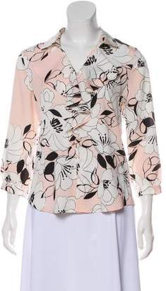Karl Lagerfeld Floral Button-Up Top w/ Tags