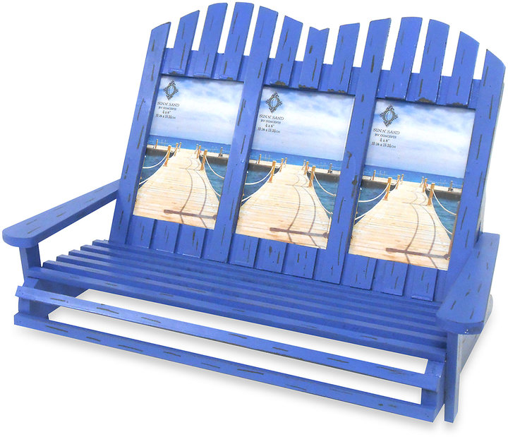 Bed Bath & Beyond Adirondack Chairs 3-Opening 4-Inch x 6-Inch Frame in Blue