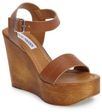 Steve Madden Belma Leather Wedge Sandal