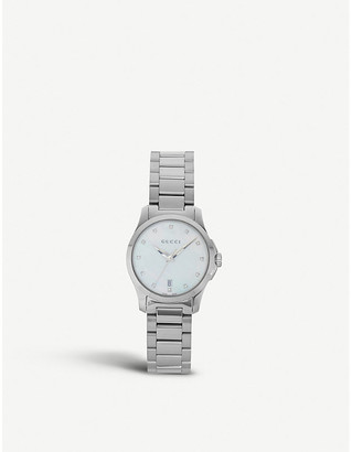 1a5f0415949 Gucci YA126542 Mother of Pearl G Timeless watch