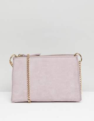 Accessorize Milly suedette cross body bag with gold chain
