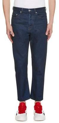 Valentino Men's Logo-Pocket Straight-Leg Jeans