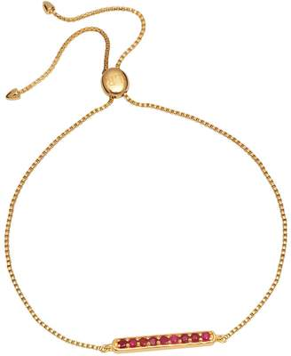 Lola Rose London - Curio Bar Slider Bracelet Ruby