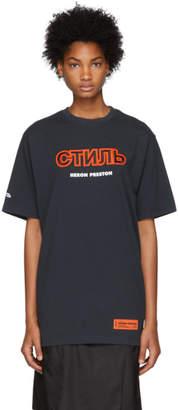 Heron Preston Blue Style T-Shirt