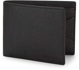 Bugatchi Men's Leather Bi-Fold Wallet