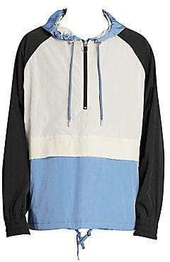 Ami Paris Men's Hooded Windbreaker