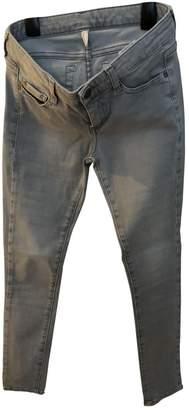 Acquaverde Grey Cotton - elasthane Jeans for Women