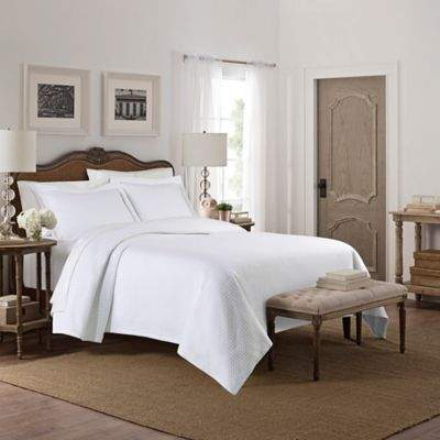 Lamont Home Camelia Patterned Twin Coverlet in White