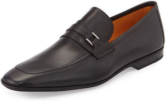 Magnanni Square-Toe Slip-On Leather Loafer