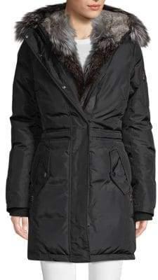 Blake Luxury Fox Fur-Trimmed Jacket