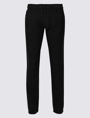 M&S Collection Italian Moleskin Slim Fit 5 Pocket Trousers