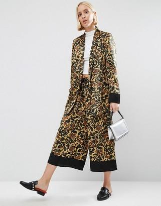 7cf490590edd Asos Floral Pyjama Culotte Trousers With Contrast Hem