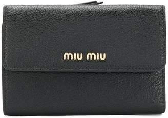 Miu Miu logo plaque wallet