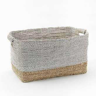 west elm Two-Tone Woven Baskets - Natural/White