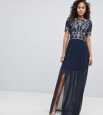 Frock And Frill Tall Embellished Top Maxi Dress