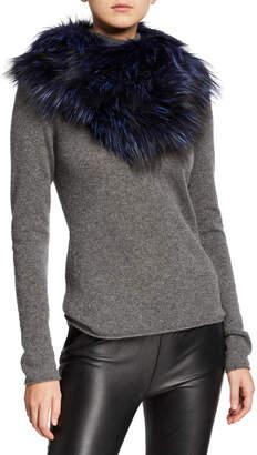 Gorski Fox Fur Knit Infinity Scarf