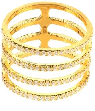 Latelita - Four Line Geometric Fashion Ring Gold