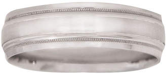 MODERN BRIDE Mens 10K White Gold 6mm Wedding Band