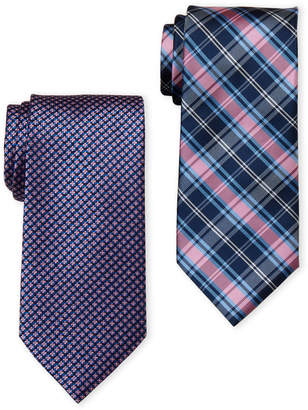 U.S. Polo Assn. Two-Pack Neat & Plaid Printed Ties
