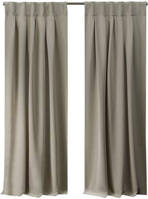 Home Outfitters Exclusive Home Sateen Woven Blackout Button Top Window Curtain Panel Pair