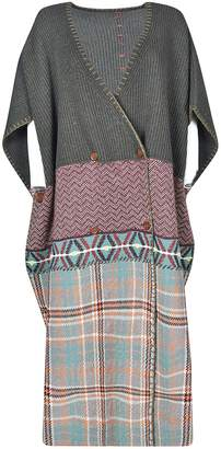 Antonio Marras Oversized Checked Knitted Poncho