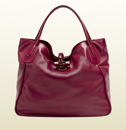 Gucci Hip Bamboo Leather Tote