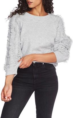 1 STATE 1.STATE Fringe Sleeve Sweater
