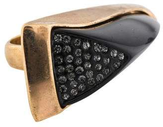 Rachel Zoe Enamel & Crystal Claw Ring
