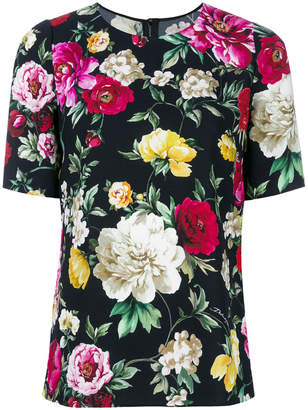 Dolce & Gabbana floral short-sleeve top