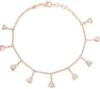 Jacquie Aiche 14-karat Rose Gold Diamond Bracelet - one size