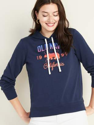 Old Navy French Terry Logo-Graphic Pullover Hoodie for Women