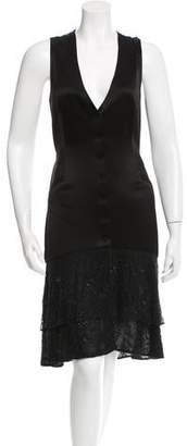 Diane von Furstenberg Cathy Tux Sleeveless Dress