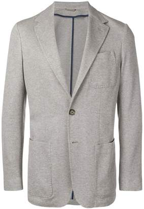 Canali knitted style tailored blazer