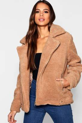 boohoo Tall Teddy Faux Fur Aviator
