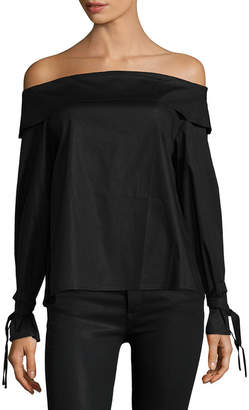 Lucca Couture Tied Cuff Off-The-Shoulder Top