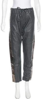 Les Chiffoniers Mid-Rise Leather Pants w/ Tags