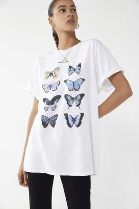 Urban Outfitters Blue Butterfly Tee