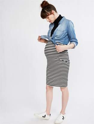 A Pea in the Pod Over The Belly Knit Pencil Maternity Skirt
