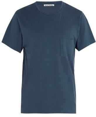 Acne Studios Crew Neck Cotton T Shirt - Mens - Blue